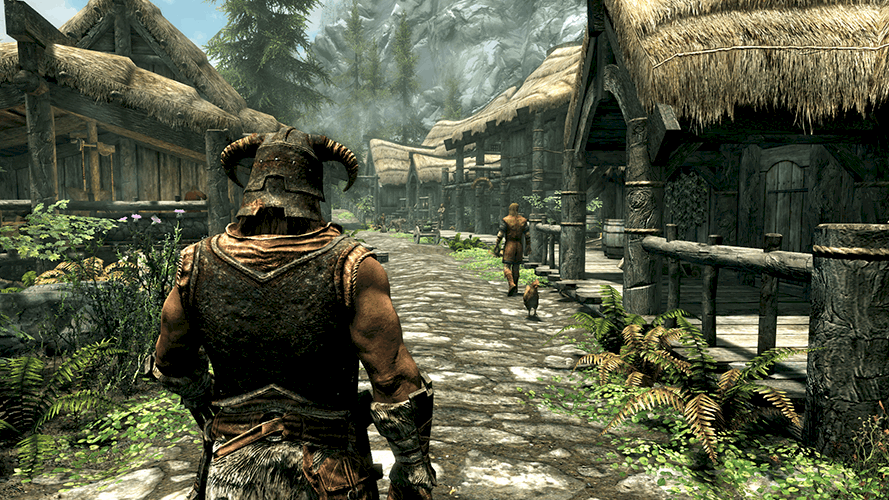 how to turn v-sync on in Skyrim
