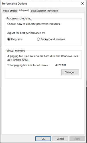 performance options