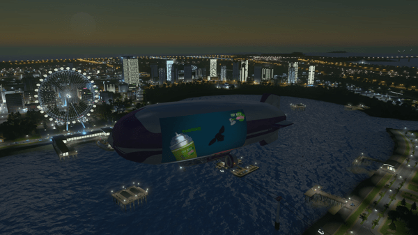 ride in blimps!