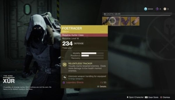 Xur's Inventory in Destiny 2